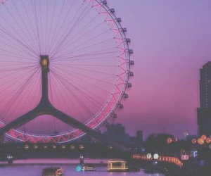 london, pink, and light image