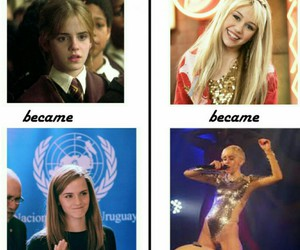 emma watson, funny, and miley cyrus image