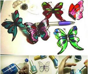 butterfly, diy, and recycling idea image