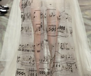 music, dress, and notes image