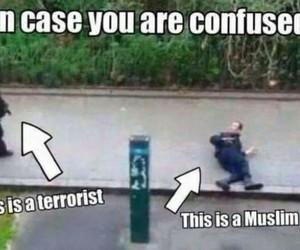 muslim, islam, and terrorist image