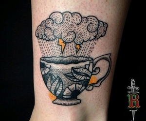 tattoo, cloud, and cup image