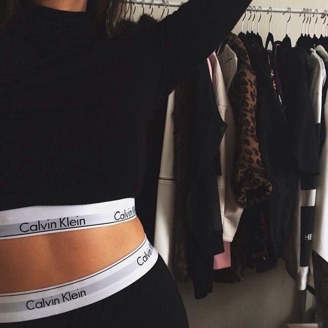 9c1e167aac Look | Girl | Calvin Klein | via Tumblr on We Heart It