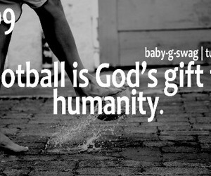 football, soccer, and quote image