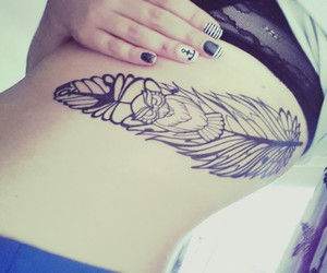 anchor, feather, and girl image