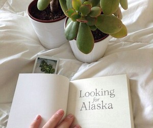 book, looking for alaska, and plants image