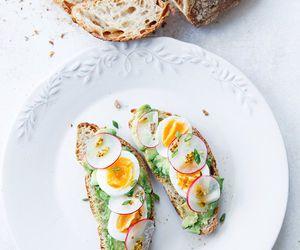 food, egg, and avocado image