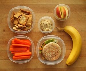 food, apple, and banana image
