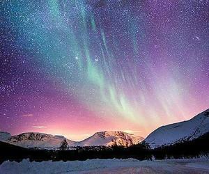 stars, sky, and snow image