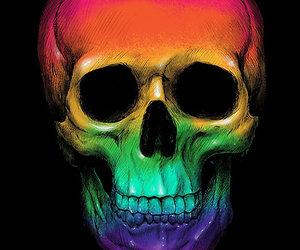 skull, rainbow, and skeleton image