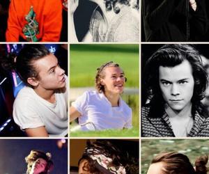 hair, styles, and harry image