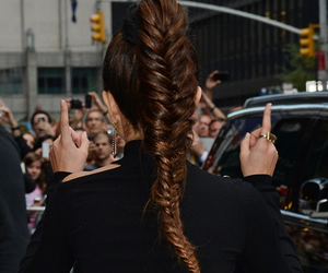selena gomez, hair, and braid image