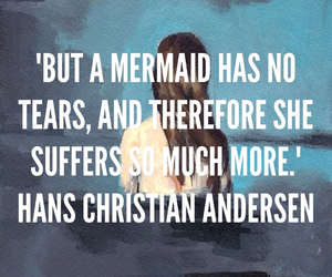mermaid, tears, and quote image
