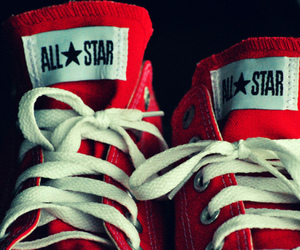 red, converse, and all star image