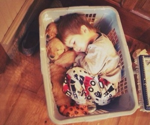 basket, child, and lovely image