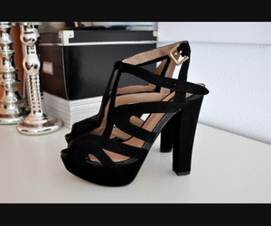 black, heels, and high heels image