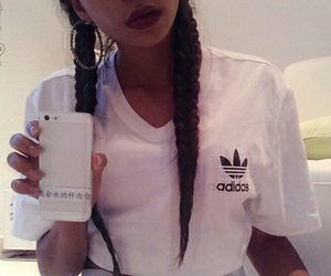 adidas, lips, and style image