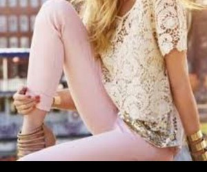 outfit, tumblr, and pink image