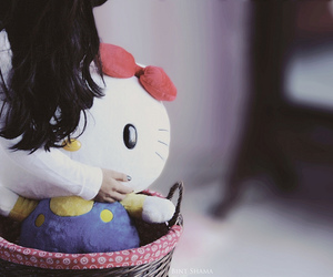 background, basket, and hello kitty image