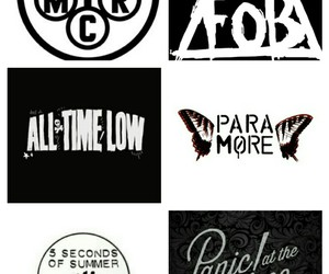 all time low, bands, and black&white image