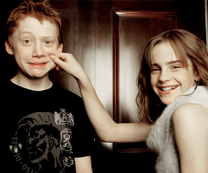 harry potter, emma watson, and rupert grint image