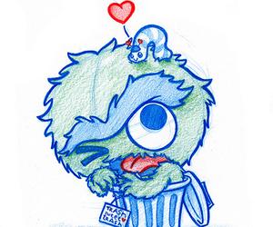 chibi, draw, and muppet image