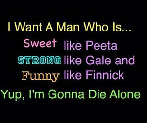 the hunger games, gale, and i'm single image