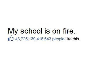 school, fire, and like image