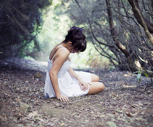 girl, alone, and dress image