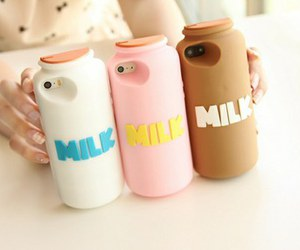 milk, iphone, and case image