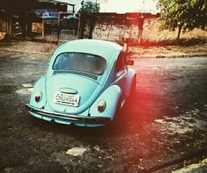blue, retro, and fusca image