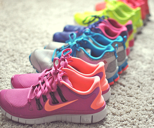 fitness, neon, and shoes image
