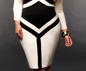 black & white, plus size, and fall 2011 image