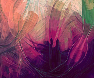 painting, pink, and swirl image