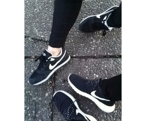 and, black, and nike image