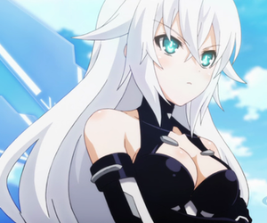 anime girl, black heart, and blue eyes image