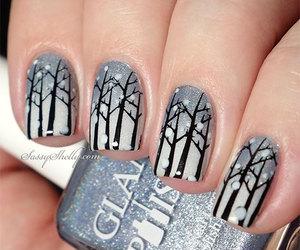 nails, winter, and nail art image