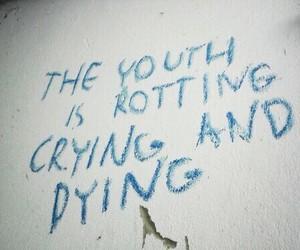 grunge, youth, and crying image