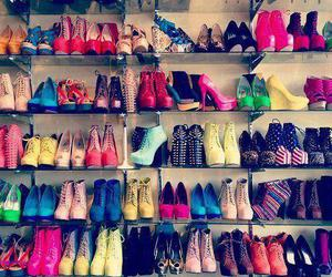 color, colours, and high heels image
