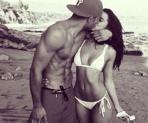 abs, couple, and beach image