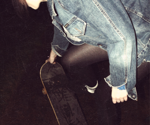 girl, grunge, and skate image