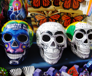 calaveras, color, and death image
