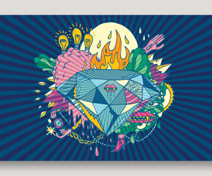 cool, diamond, and fire image