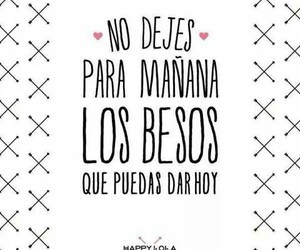 Besos, espanol, and frases image