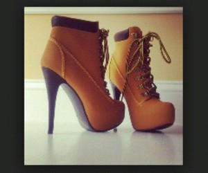 beautiful, high heels, and brown image