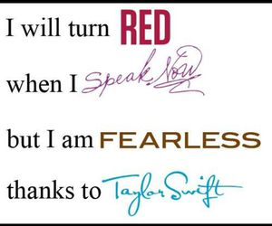 red, Taylor Swift, and fearless image