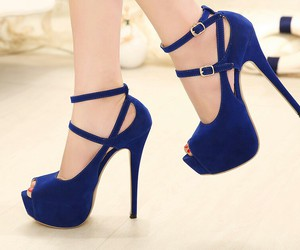 blue, pumps, and heels image