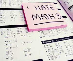 maths, school, and hate image