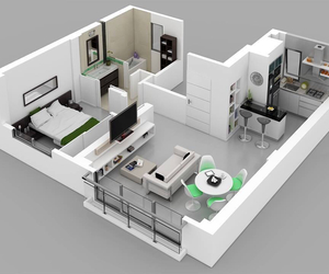 3d, nice, and apartment image