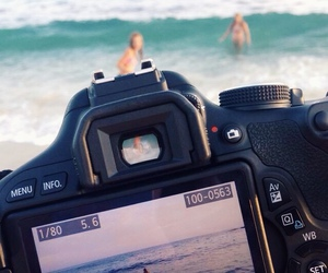 camera, beach, and summer image
